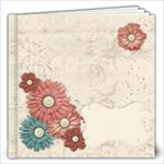 12x12 Vintage Floral Album - 12x12 Photo Book (20 pages)