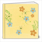 8x8 Shower/Garden/Butterfly Album - 8x8 Photo Book (20 pages)