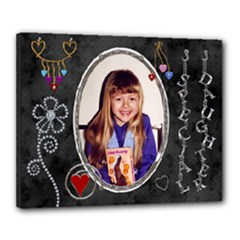 Special Daughter 20x16 Stretched Canvas - Canvas 20  x 16  (Stretched)