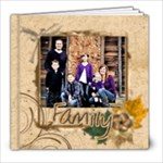 family picture book brown - 8x8 Photo Book (20 pages)