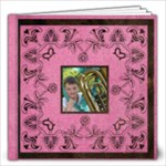 Art Nouveau Deep Pink 12 x 12 30 page book - 12x12 Photo Book (30 pages)