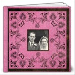 Art Nouveau Deep Pink 8 x 8 30 page book - 12x12 Photo Book (30 pages)