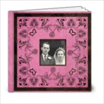 Art Nouveau Deep Pink6 x 6 20 page book - 6x6 Photo Book (20 pages)