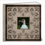 Art Nouveau Moccachino Wedding Album 8 x 8 39 page - 8x8 Photo Book (39 pages)