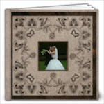 Art Nouveau Moccachino Wedding Album 8 x 8 20 page - 12x12 Photo Book (20 pages)