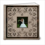 Art Nouveau Moccachino Wedding Album 6 x 6 20 page - 6x6 Photo Book (20 pages)