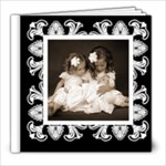 Art Nouveau Classic black & White album 8 x 8 20 page - 8x8 Photo Book (20 pages)