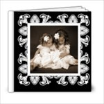Art Nouveau Classic black & White album 6 x 6 20 page - 6x6 Photo Book (20 pages)