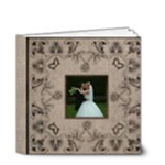 Art Nouveau Moccachino Wedding Album 4 x 4 20 page - 4x4 Deluxe Photo Book (20 pages)