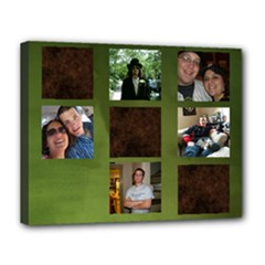 Dad and Annette s Christmas Present - Canvas 14  x 11  (Stretched)