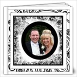 Fantasia Perfect Day Monochrome Wedding Album 12 x 12 40 page - 12x12 Photo Book (40 pages)