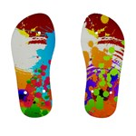 Multi color paint splash  - Kid s Flip Flops