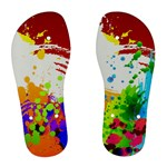 Women Multi Color Paint Splash Flip Flops  - Women s Flip Flops