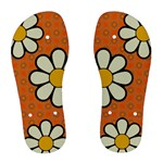 Flower Orange Chanclas - Women s Flip Flops