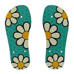 Flower Blue Cyan Chanclas - Women s Flip Flops