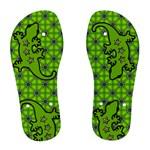 Green Salamander - Women s Flip Flops