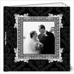 Elegant Black Wedding Album 12x12 30 pages - 12x12 Photo Book (30 pages)