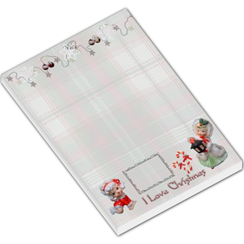 I Love Christmas Angel Lg Memo Pad Plaid By Ellan   Large Memo Pads   5tfi6p8zm5cf   Www Artscow Com