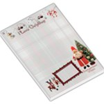I love Christmas Remember When old fashioned santa lg memo pad plaid - Large Memo Pads