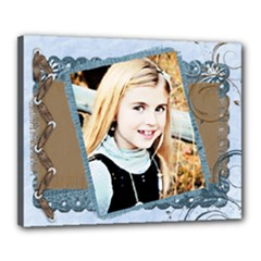 blueberry chocolate canvas template 20x16 - Canvas 20  x 16  (Stretched)