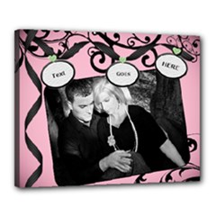 pink & black 2016 canvas template - Canvas 20  x 16  (Stretched)