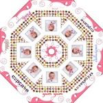 Cupcake pink swirls umbrella - Folding Umbrella