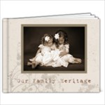 Classic Mocha swirls family heritage 39 page 9 x 7album template - 9x7 Photo Book (39 pages)