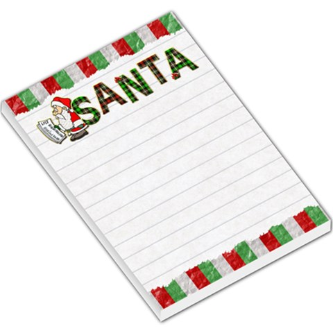 Santa Large Memo Pad By Lil    Large Memo Pads   4m4ifkzhayc2   Www Artscow Com