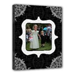 Black and White 14x11 Stretched Canvas - Canvas 14  x 11  (Stretched)