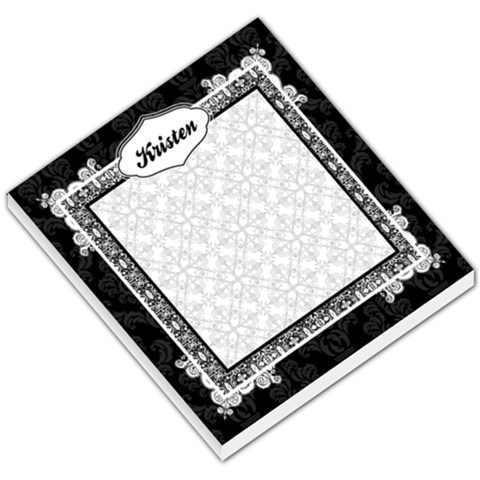 Black & White Small Memo Pad By Klh   Small Memo Pads   Ck1a32if43pu   Www Artscow Com