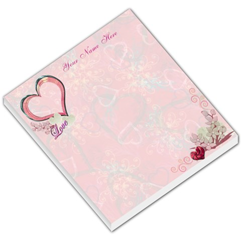 Floral Heart Pink I Heart/love You Small Memo Pad  By Ellan   Small Memo Pads   Bvpnwwxf76gs   Www Artscow Com