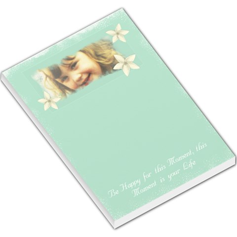 Be Happy Pad Lk By Lillyskite   Large Memo Pads   Vtck0p3w8ya0   Www Artscow Com