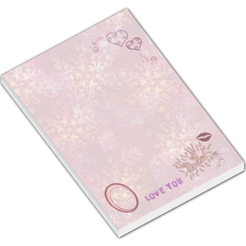 Love You This Much Pink1 Large Memo Pad By Ellan   Large Memo Pads   W1am58ji4z4f   Www Artscow Com