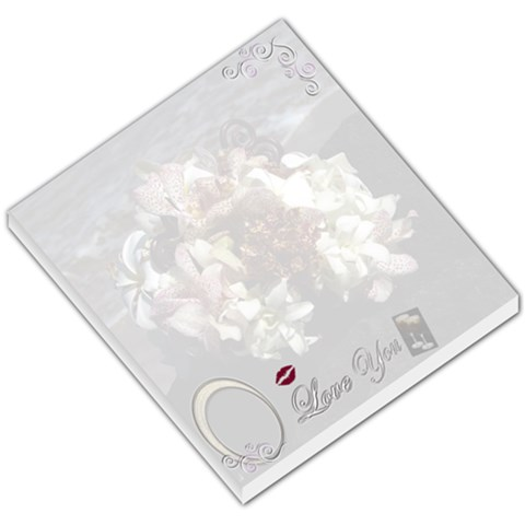 I Love You Bridal Boquet Memo Pad By Ellan   Small Memo Pads   Ctxmunfxuh55   Www Artscow Com