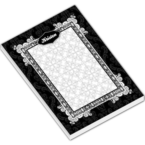 Black & White Large Memo Pad By Klh   Large Memo Pads   Vlrdlxv5ofo3   Www Artscow Com