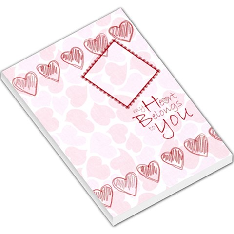 My Heart Belongs To You Memo Pad 2 By Catvinnat   Large Memo Pads   Iani09xwbvgp   Www Artscow Com
