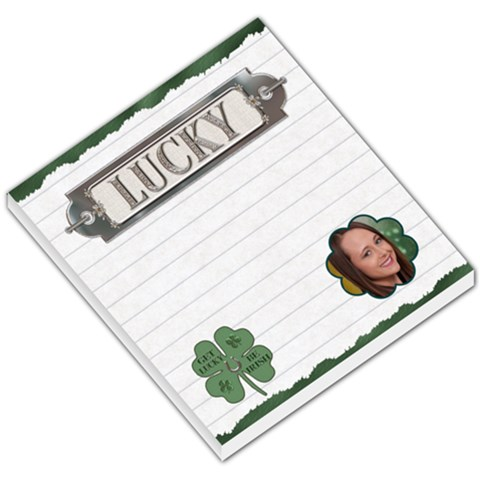 Lucky Irish Small Memo Pad By Lil    Small Memo Pads   T0sguil4yqll   Www Artscow Com