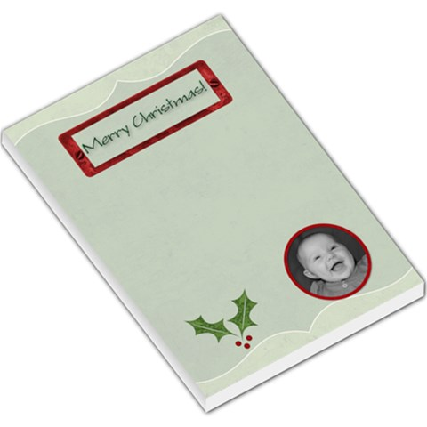 Merry Christmas Large Memo Pad By Jen   Large Memo Pads   4sb4qa81lqch   Www Artscow Com