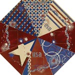 Patriotic folding umbrella-Red, White, Blue