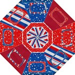 Red, White & Blue -folding umbrella