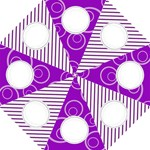 Purple Folding Umbrella Template