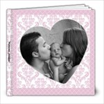 Simple Pink Baby Girl 8x8 20 page book - 8x8 Photo Book (20 pages)