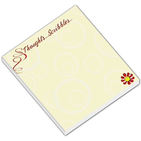 Thoughts & Scribbles Yellow Small Memopad By Purplekiss   Small Memo Pads   Jpu0tswgnqlr   Www Artscow Com