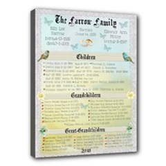 Farrow Family Tree - Canvas 16  x 12  (Stretched)