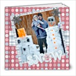 snow family fun template book 8x8 - 8x8 Photo Book (20 pages)