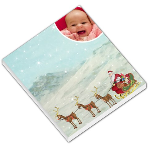 Here Comes Santa Memo Pad By Snackpackgu   Small Memo Pads   L4zz3zfok8a5   Www Artscow Com
