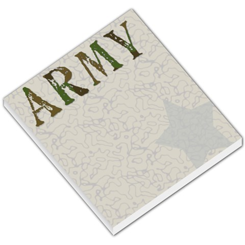 Army Notepad By Amanda Bunn   Small Memo Pads   0g3ujn5ip4nf   Www Artscow Com