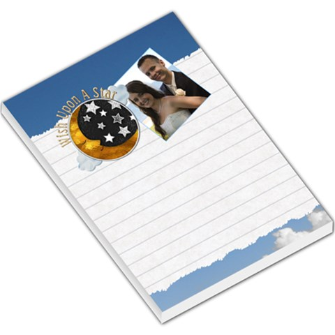 Wish Upon A Star Large Memo Pad By Lil    Large Memo Pads   Ru25zd0ykk4w   Www Artscow Com