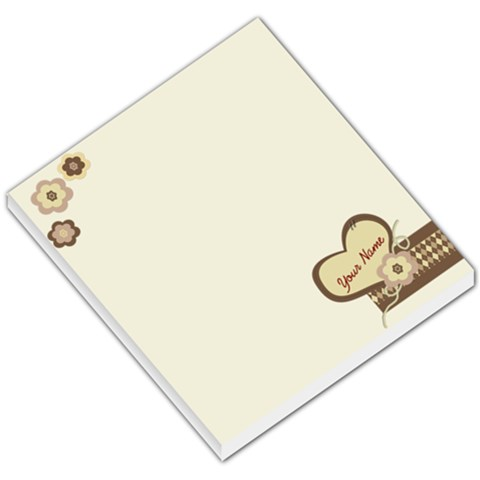 Hearts & Flowers Custom Memo Pad Small By Purplekiss   Small Memo Pads   S6w8oyzwa1m3   Www Artscow Com