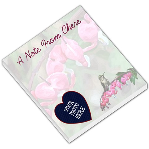 Bleeding Heart Small Memo Pad By Chere s Creations   Small Memo Pads   Qsq7d9wrr2zi   Www Artscow Com